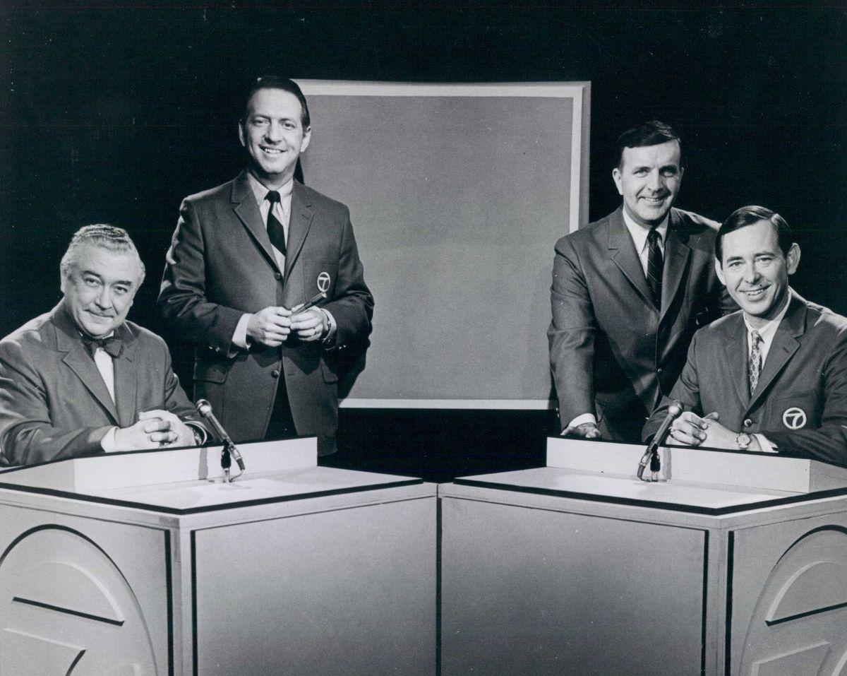 "The ""Eyewitness News"" team (from left): Fahey Flynn, John Coleman, Bill Frink and Joel Daly."